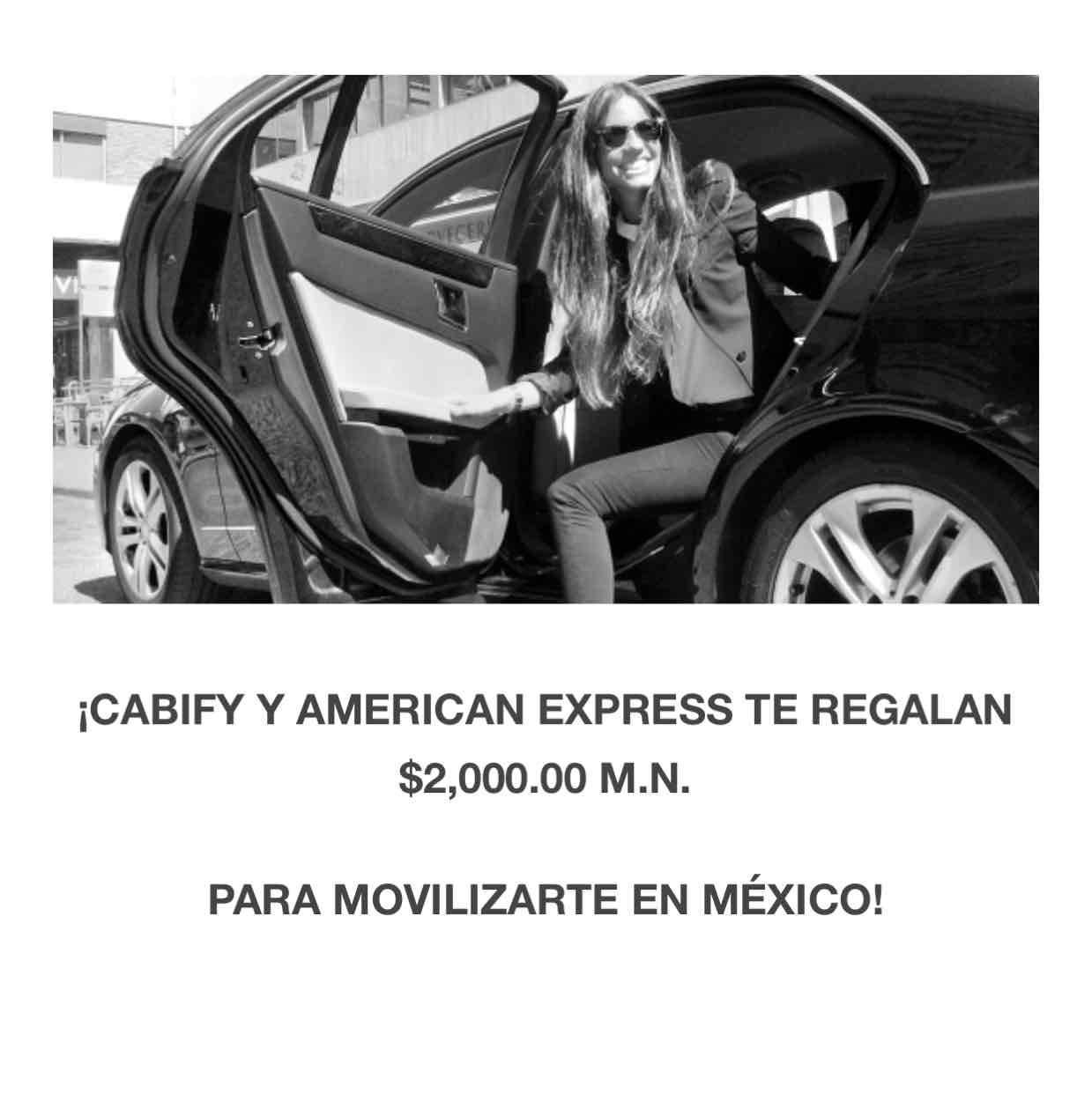 Cabify Y AMEX: $2,000 en certificado de Cabify adquiriendo la tarjeta Gold Elite Credit Card