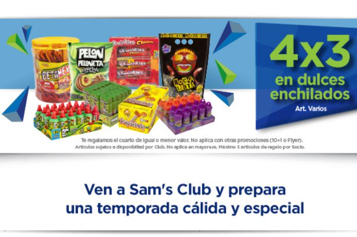 Sam's Club: promoción 4x3 en dulces enchilados
