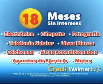 Walmart: 18 meses sin intereses con American Express, Santander y más