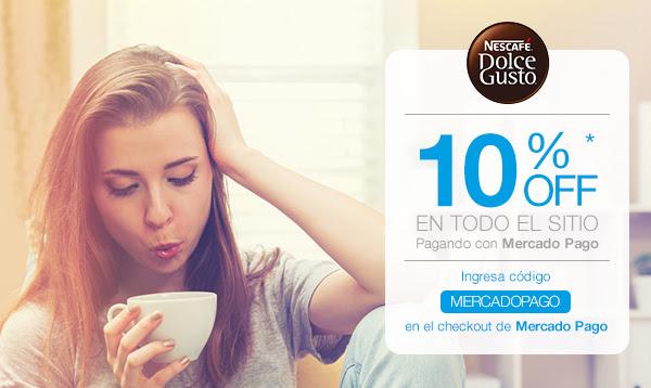 Nescafé Dolce Gusto: 10% de descuento en todo el sitio con MercadoPago