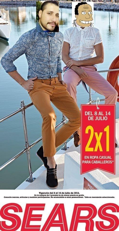 Sears:2x1 en ropa casual para caballeros