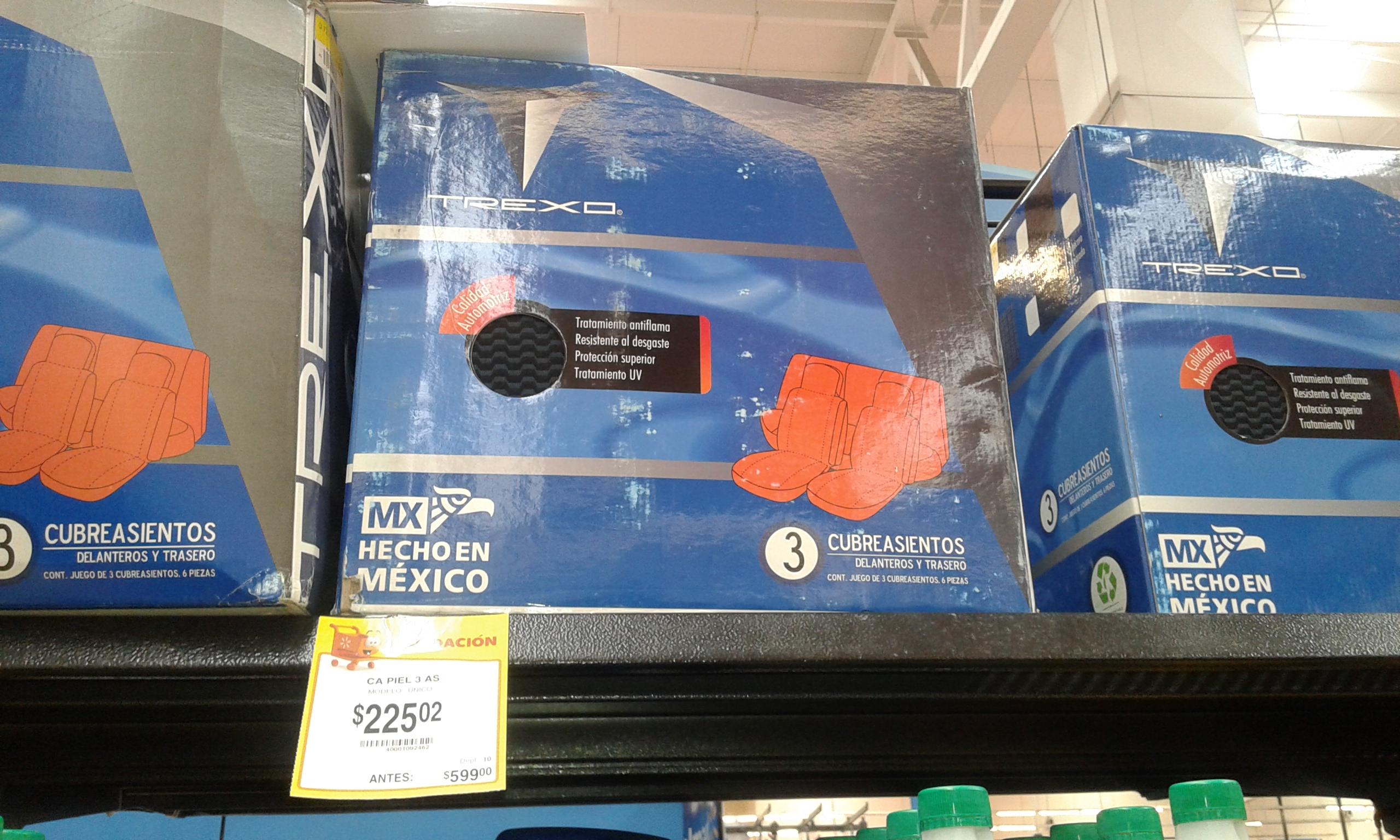 Walmart Interlomas: juego de fundas para auto en segunda liquidación a $225.02