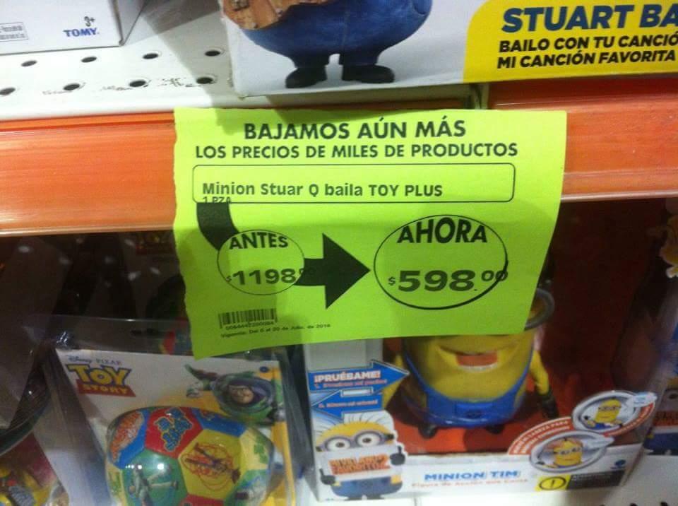 Comercial Mexicana San Miguel de Allende: Minion de $1,198 a $598