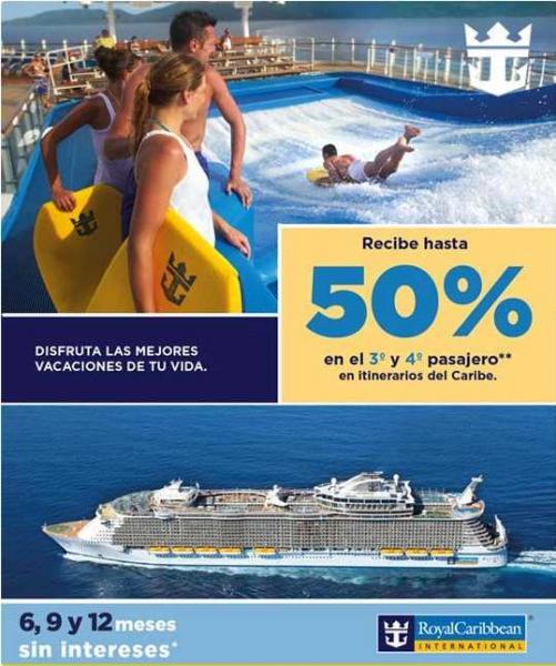 Promociones en Royal Caribbean y Celebrity Cruises (crucero al caribe por $349)