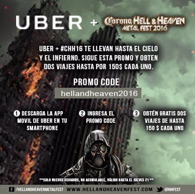 Uber & Hell and Heaven: dos viajes de hasta $150 cada uno para usuarios nuevos