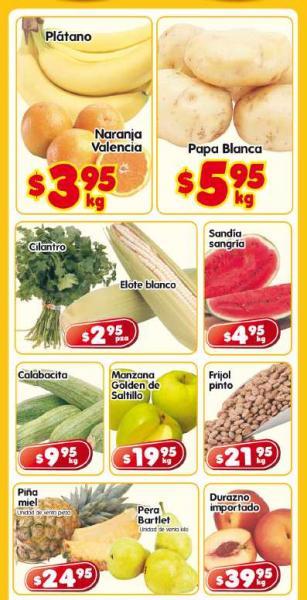 Frutas y verduras en HEB: naranja $3.95, papa $5.95 y más