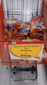 Chedraui: chicharrón de cerdo a $10 de $39.90