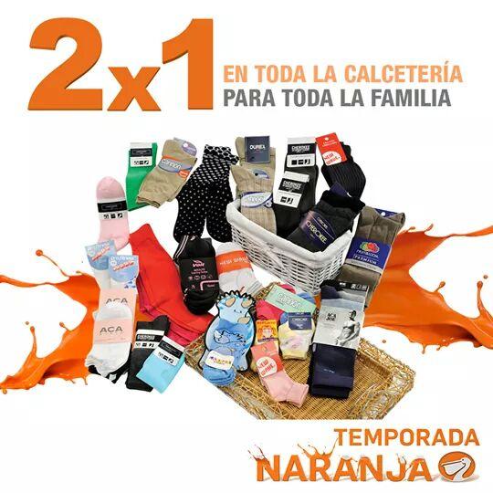 La Comer Temporada Naranja (Antes Julio Regalado) 2x1 En toda la Calcetería para toda la familia