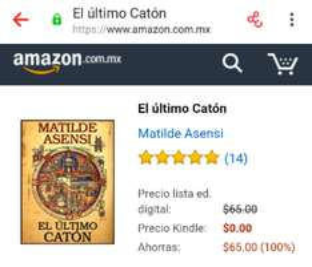 Amazon Tienda Kindle: libro gratis El Último Catón