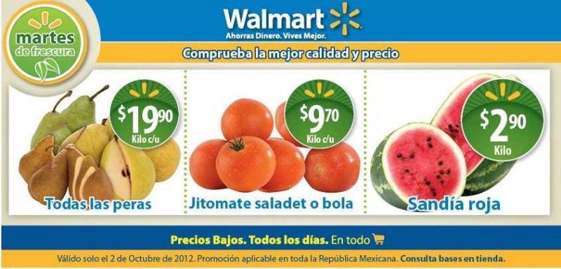 Martes de frescura en Walmart octubre 2: sandía $2.90, filete basa $64 y más