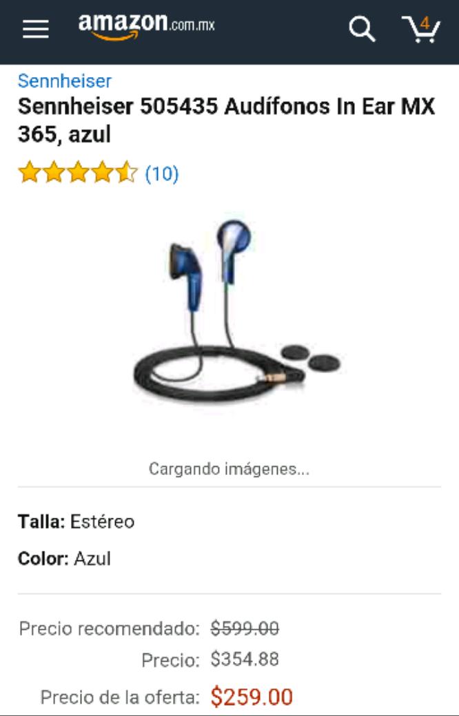 Amazon: Audífonos Sennheiser 505435