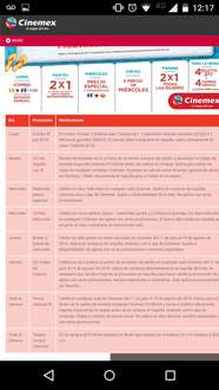 Cinemex: Verano Cinemex, diferentes ofertas por día
