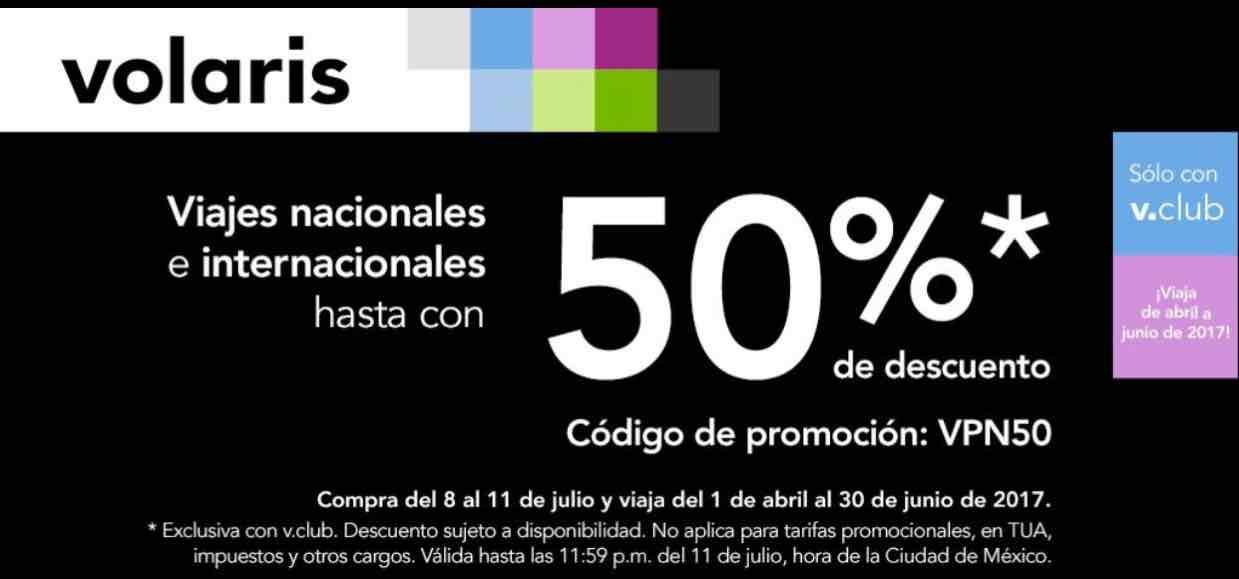 Volaris: 50% de descuento con cupón para VClub