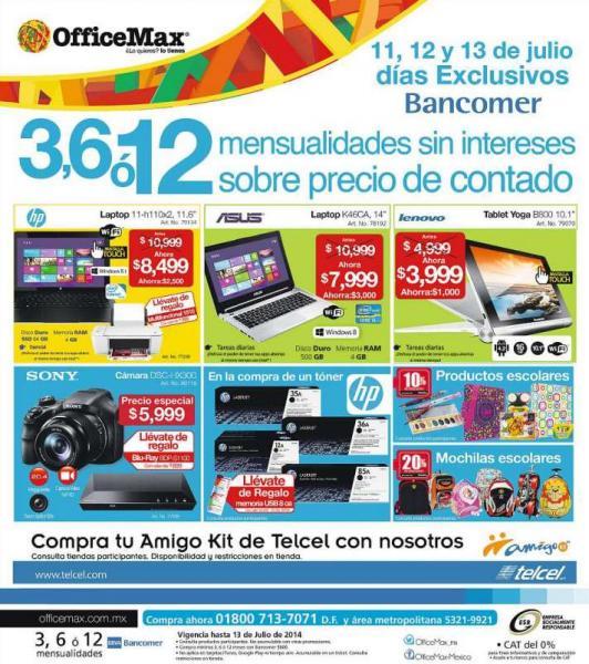 OfficeMax: reproductor blu-ray gratis comprando cámara Sony, laptop con i5 $7,999 y más