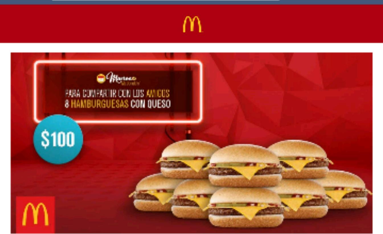 McDonald's: 8 hamburguesas con queso por $100 solo el 12 de julio