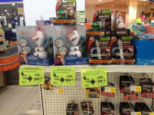 Mega Comercial Mexicana Metepec: Olaf de Frozen a $99