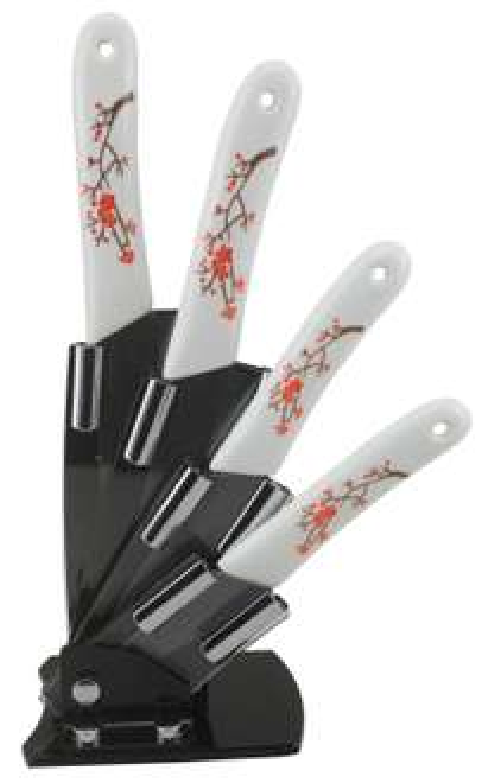 Amazon: Cuchillos cerámicos con base, 5 piezas a $285.61