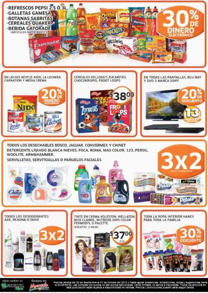 Soriana: ofertas en ropa interior, Sabritas, Gamesa, 3x2 en servilletas y más