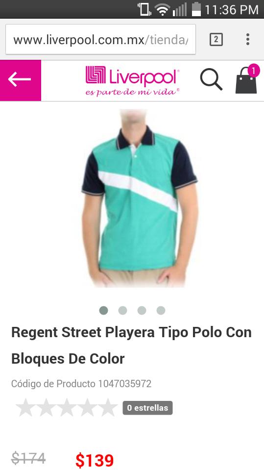 Liverpool: Regent Street Playera Tipo Polo Con Bloques De Color