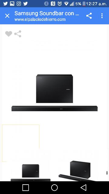 Palacio de Hierro en línea: barra de sonido Samsung a $5,039