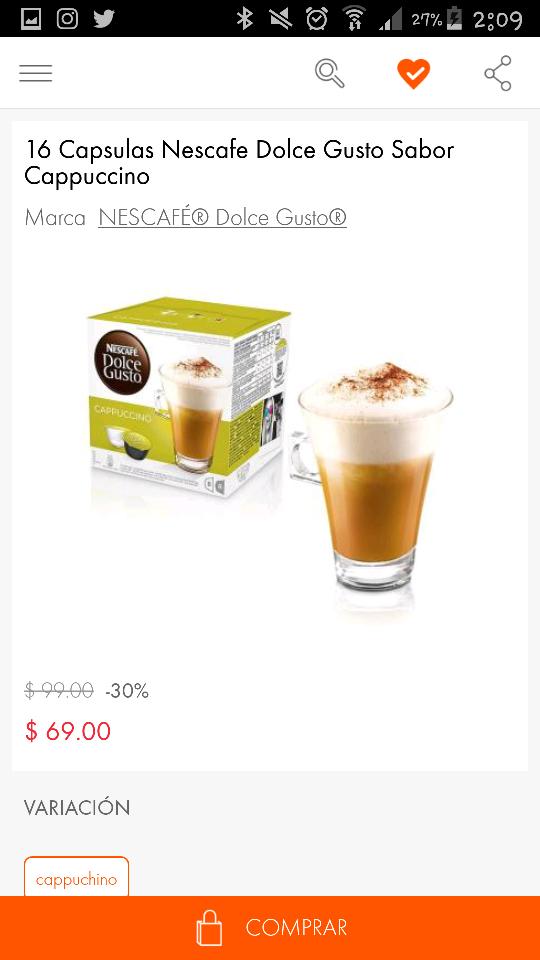 Linio: cápsulas Dolce Gusto, varios sabores desde $69