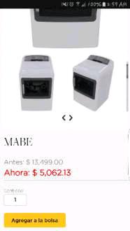 Palacio de Hierro en línea: Secadora Mabe 20kg a $5,062.13