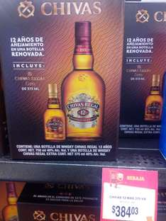Walmart Zinacantepec: Chivas Regal 12 + 375 ml a $384.03