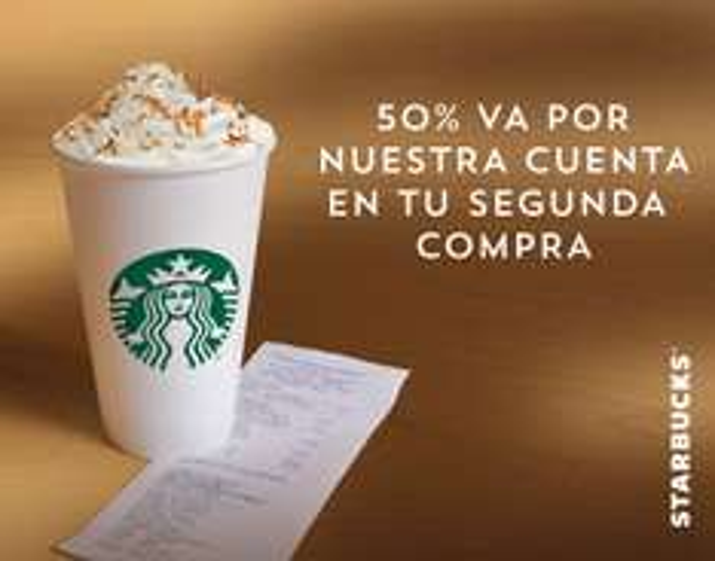 Starbucks: 50% de descuento pagando con las Tarjetas Banorte en segunda compra