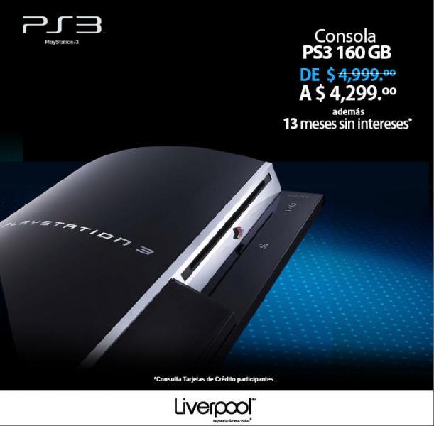 Ofertas en consolas PS3 en varias tiendas