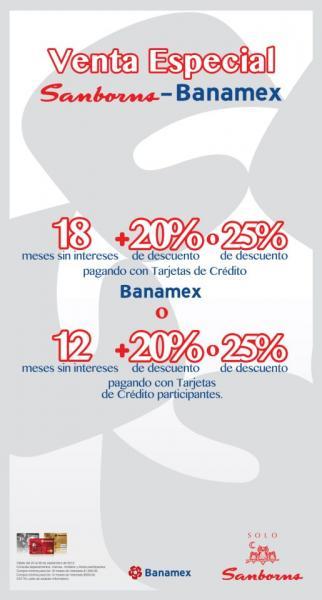 Venta Especial Sanborns: hasta 18 meses sin intereses y 20% de descuento