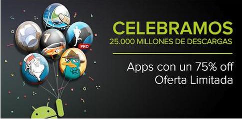 Juegos y aplicaciones para Android a 25 centavos de dólar. Diferentes cada día