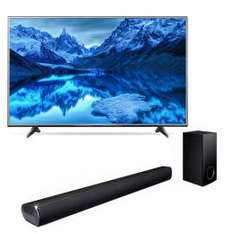 "Sears en línea: Pantalla LED LG 65"" Uhd Smart 65Uh6150 + Soundbar con Subwoofer Bluetooth Lg Las350B"