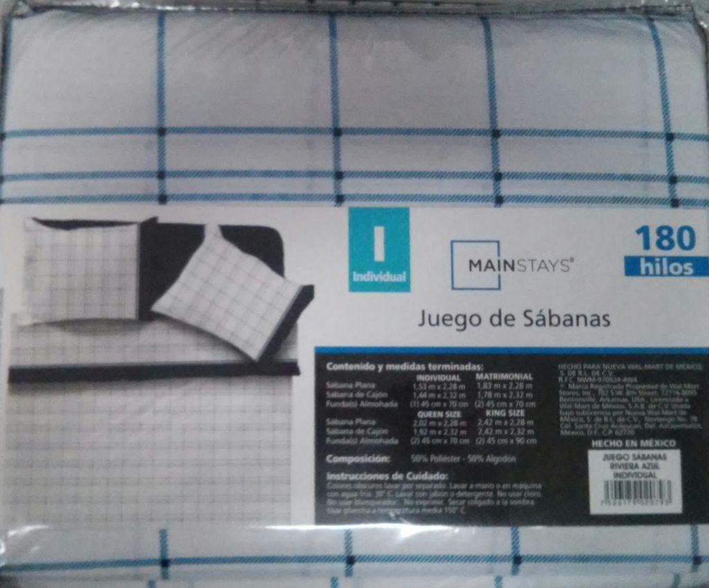 Walmart Cuitláhuac: juego de sábanas ind. Mainstays a $35.01