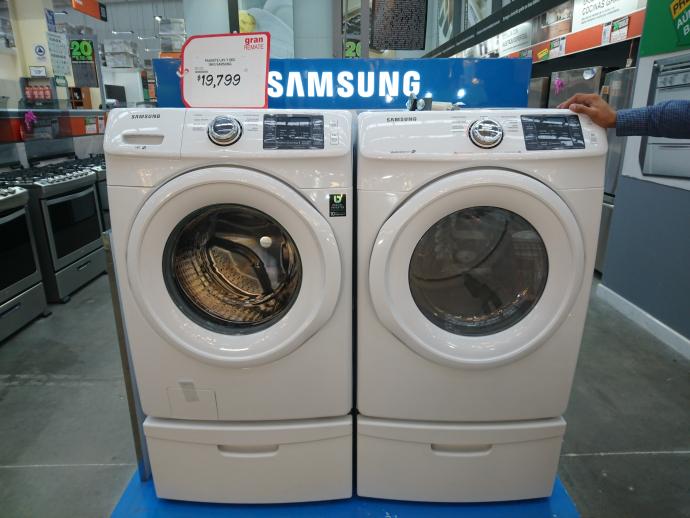 Home Depot: Paquete Lavadora y Secadora Samsung a $19,799