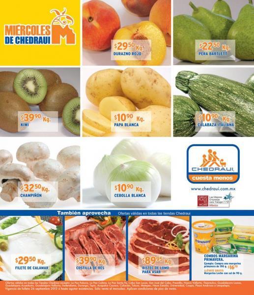 Miércoles de frutas y verduras Chedraui septiembre 26: tomate $15.90, manzana $30.90 y más