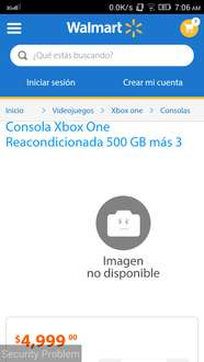 Walmart en línea: Xbox One reacondicionado a $4,999 y Xbox One reacondicionado con Kinect a $5,999