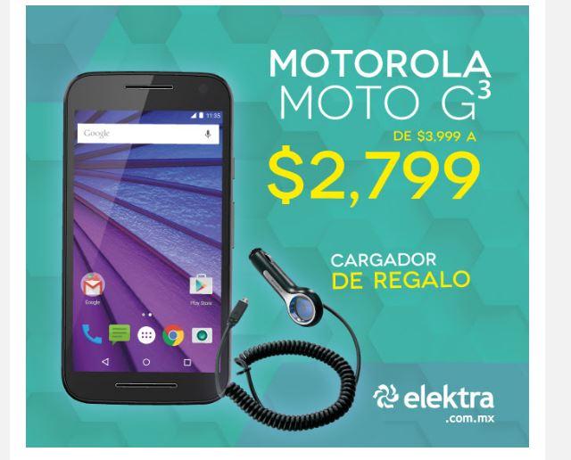 Elektra en linea: Motorola Moto G 3ra generación 16GB Desbloqueado con Cargador de Regalo