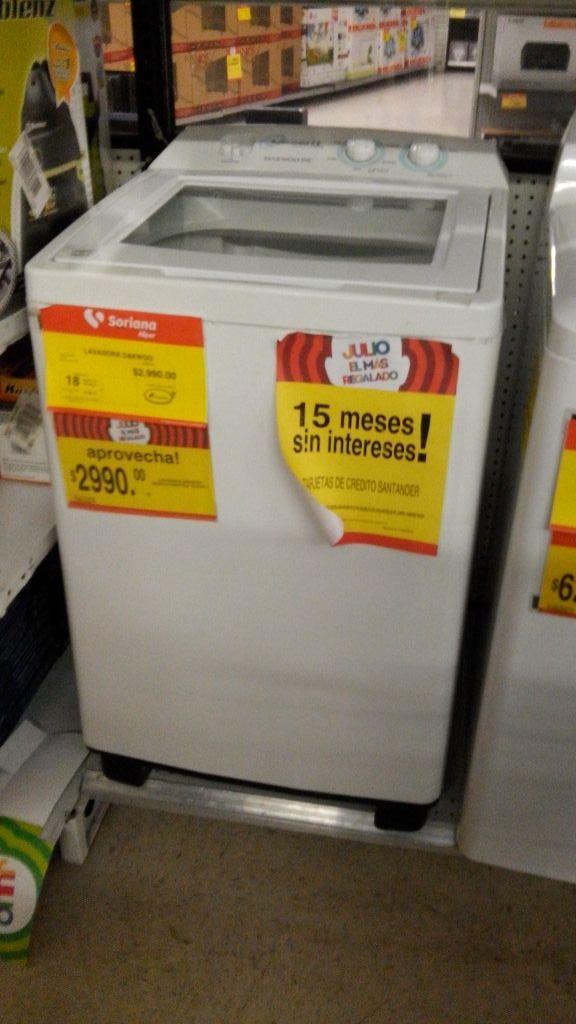Soriana Cuautitlán: lavadora Daewoo a $2,999