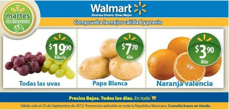 Martes de frescura Walmart septiembre 25: todas las uvas a $19.90 y más