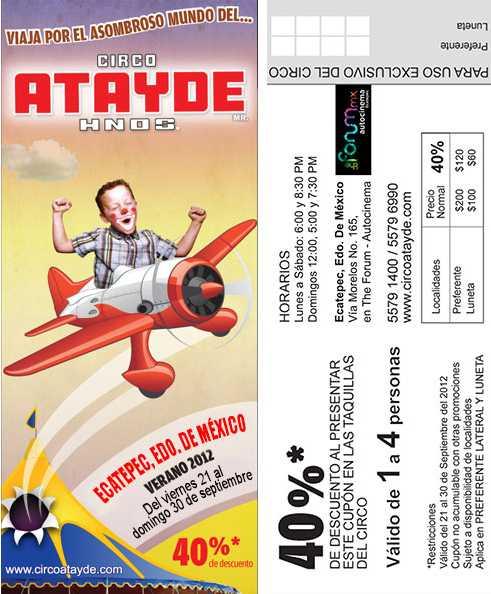 Circo Atayde Hermanonos: 40% de descuento con cupón (Edo Mex)