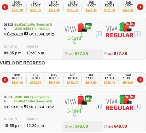 Vivaaerobus: rutas seleccionadas a $548 precio total en viaje sencillo