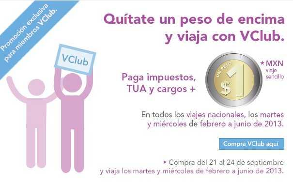 Volaris: vuelos nacionales a $1 más impuestos para miembros VClub