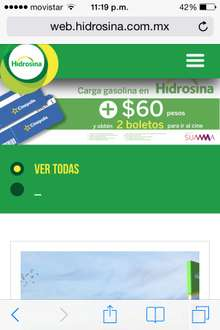 HIDROSINA: 2 BOLETOS CINEPOLIS CARGANDO GAS + $60
