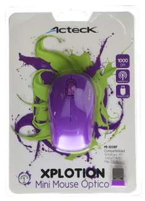 Amazon MX: Mini mouse Inalambrico Acteck Morado a $97