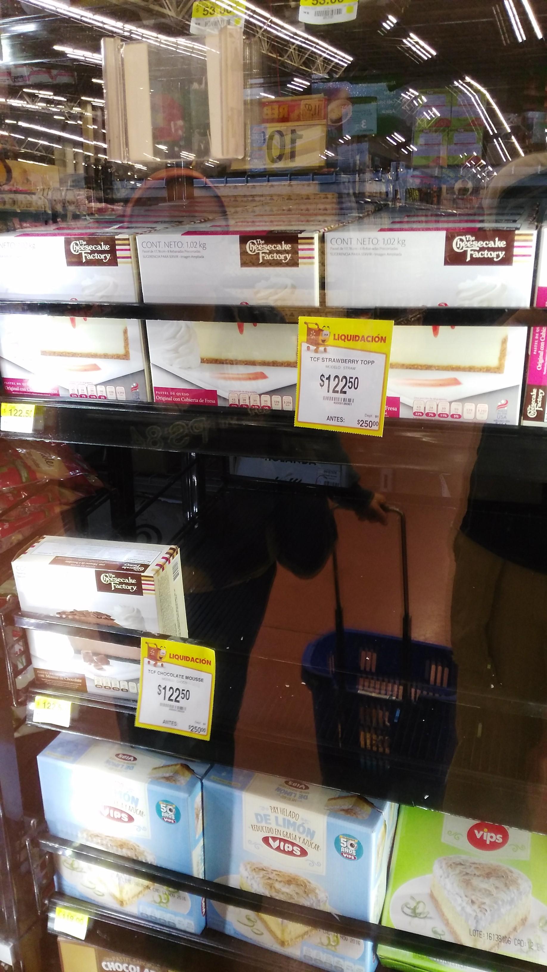 Walmart: pastel de queso Cheesecake Factory de $250 a $122.50