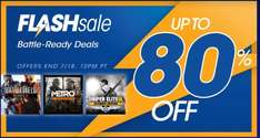 Playstation Network - Flash Sale: Battle Ready Deals , juegos hasta con  80% de descuento