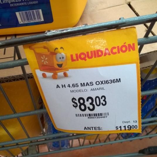 Walmart Mérida: Detergente Arm & Hammer 4.65 L. mas Oxi Clean de $119 a 83.03 y más