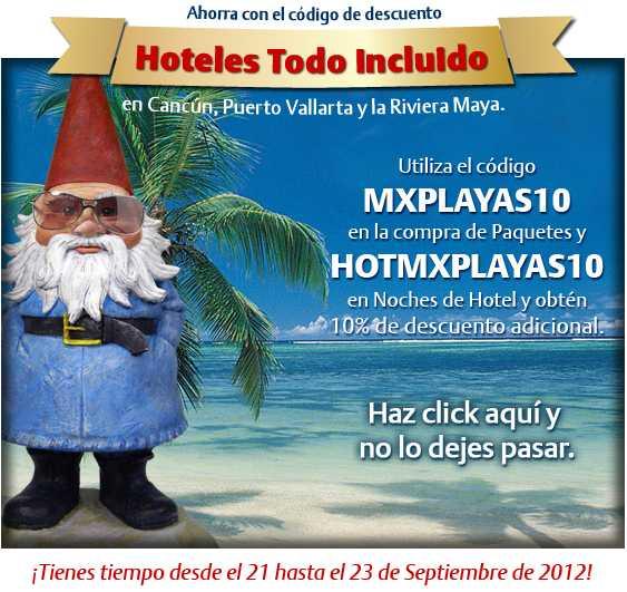 Travelocity: 10% de descuento adicional en paquetes y hoteles de Cancún y Vallarta