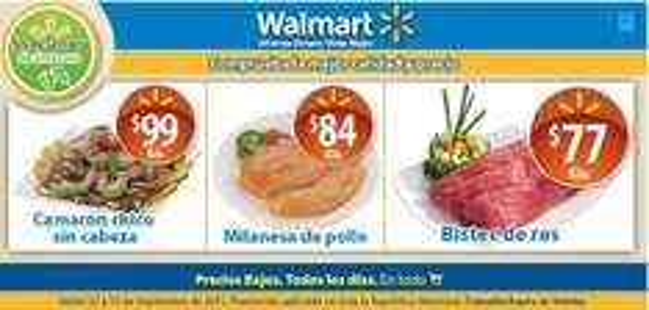 Fin de semana de frescura Walmart septiembre 22