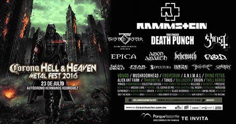 Parque Tezontle: 2 boletos para Corona Hell & Heaven Metal Fest 2016 en la compra de $2,000 pesos o más